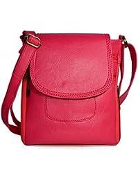 Fargo PU Cross Body Women's Sling Bag (Pink_FLFG-016)