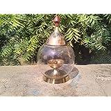 Collectible India Akhand Diya Oval Shape Brass Oil Lamp (16cm X 10cm)