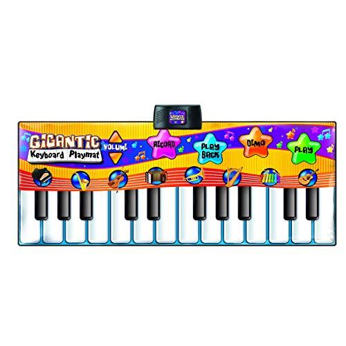 MAJOZ 24 Tasten Klaviermatte Tanzmatten Musikmatte Kinder, Piano Spielteppich Matte Spielmatte Musik, Musikinstrument für Baby Kleinkind Kinder, 180 x 74cm