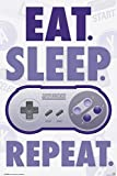 Póster Nintendo - Eat. Sleep. Game. Repeat. (61cm x 91,5cm) + 1 Póster con motivo de paraiso playero
