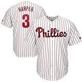 LIANGJK Erwachsene Philadelphia 3# Bryce Harper Philadelphia Phillie Fans Baseball-Kleidung -