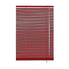 Gardinia Veneziana in alluminio, Visibilità, Protezione dalla luce e ai raggi solari, Fissaggio al muro e al plafone, Kit di montaggio incluso, Veneziana in alluminio, Rosso, 40 x 175 cm (LxA)