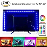 TV Tira LED Iluminación 4*50cm USB 5050 SMD RGB Multicolor Flexible Tira de Led Kit Con mando 16 colores DC 5v
