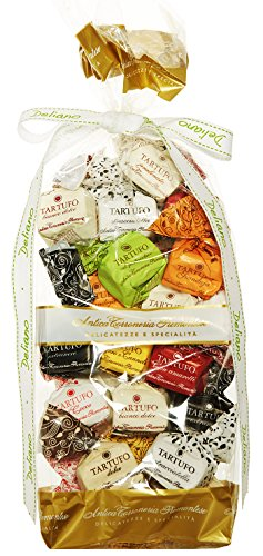 Deliano Pralinen Delikatessen aus Italien. Schokolade tartufo Geschenk Set. Pralinen Spezialitäten 20 Stück 280 g