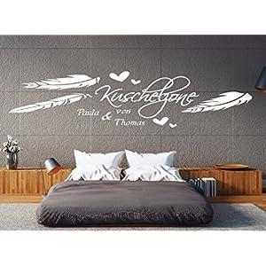 a-pk97 Wandtattoo Schlafzimmer Wandtatoo Wohnzimmer Wandtattoo Name Kuschelzone mit Wunschnamen (B140 x H39 cm (mittel))