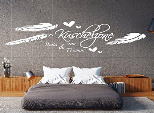 pk97 180 cm Wandtattoo Schlafzimmer Wandtatoo Wohnzimmer Wandtattoo Name Kuschelzone mit Wunschnamen...