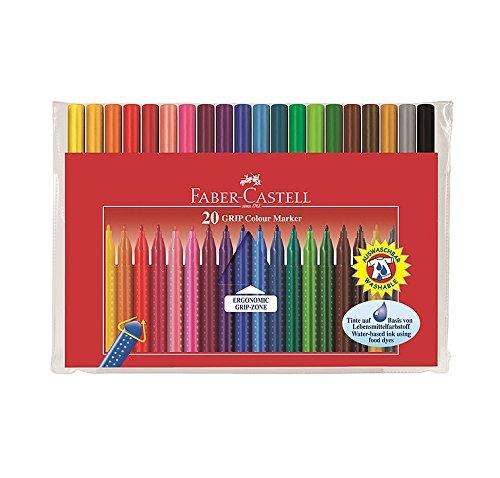 Faber-Castell GRIP Colour Marker, 20er Etui