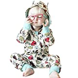 Berrose-Infant Baby Mädchen Jungen Cartoon 3D Ohr Kapuze Strampler Overall Reißverschluss Playsuit-kinderkleidung Babykleidung Kindermode Winterjacke mädchen babymode babyausstattung