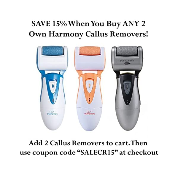 Rechargeable Hard Skin Remover USAs Best Selling Electric Callus Remover By Own Harmony Pedicure Tools W 3 Micro Diamond Rollers Professional Spa Foot Care Pedi Feet File UK Plug