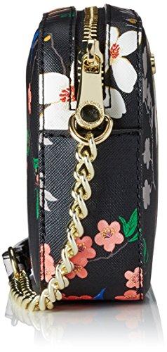 Guess - Isabeau Mini Crossbody Top Zip, Borsa a spalla Donna Nero (Black Multi)