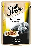 Sheba Katzen-/Nassfutter Selection in Sauce, mit Huhn, 12 Beutel (12 x 85 g)