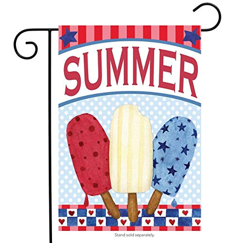 CHKWYN Red White and Blue Pops Summer Garden Flag Patriotic Popsicles for Party Outdoor Home Decor Size: 28-inches W X 40-inches H -