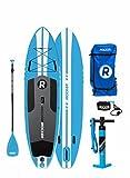 Paquete SUP de tabla de surf de remo hinchable iROCKER ALL-AROUND, 10' largo, 32' ancho, 6' grueso