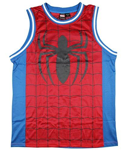Marvel Spiderman Parks Basketball-Trikot, ärmellos - Mehrfarbig - XX-Large (Marvel-comic-tank)