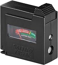 Goobay 54020 Batterietester für AAA, AA, C, D, 9 V, N- und Knopfzellen