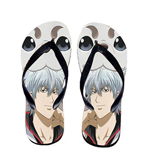 Bromeo Gintama Anime Unisex Flip Flops Zehentrenner Flip Pantoffeln 487