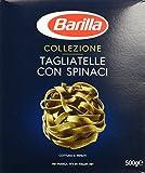Barilla Hartweizen Pasta Collezione Tagliatelle con Spinaci – 12er Pack (12x500g)