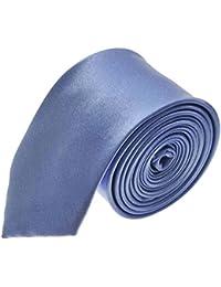 Cornflower Blue, Mens Plain Skinny Tie. Handmade. Wedding, Fashion. *UK Seller*