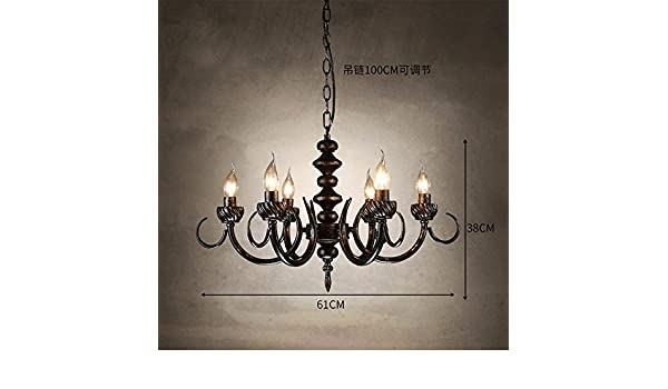 Kronleuchter Eisen Für Kerzen ~ Gzlight hängeleuchte kronleuchter hängen deckenlampe eisen coffee