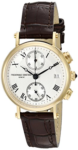 Frederique Constant Classics FC291MC2R5 34mm Stainless Steel Case Brown Calfskin Anti-Reflective Sapphire Women's Watch