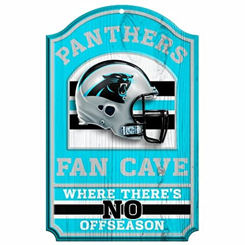 NFL Carolina Panthers Fan Cave Wood Sign, 11