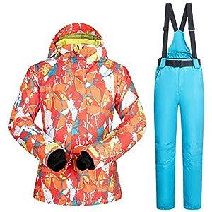 QZHE Skianzug Schnee Jacken Frauen Outdoor Schneehose Sets Atmungsaktiv Winddicht Wasserdicht Winter Skifahren Und Snowboarden Anzüge
