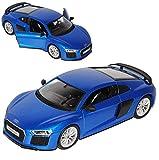 alles-meine.de GmbH Audi R8 Coupe Blau neuestes Modell 2. Generation ab 2015 1/24 Maisto Modell Auto mit individiuellem Wunschkennzeichen