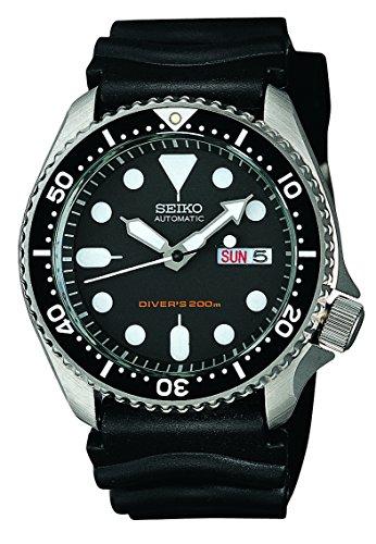 Seiko - SKX007K1 - 5 Sports Diver's - Montre Homme - Automatique Analogique - Cadran Noir - Bracelet Caoutchouc Noir