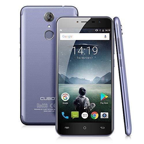 CUBOT Note Plus Android 7.0 4G-LTE Dual Sim Smartphone, 5.2 Pollici IPS HD, 3GB Ram+32GB Memoria, Fotocamera Principale 16MP / Fotocamera Frontale 16MP, GPS, Blu [CUBOT UFFICIALE]