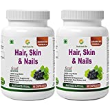 #8: Nutrinelife Biotin 10000 mcg Hair Skin and Nail supplement with Multivitamin, Minerals, Grape seed extract and Amino acid supports hair growth, glowing skin and strong nail for men and women 60 Veg Capsules (Pack of 2)