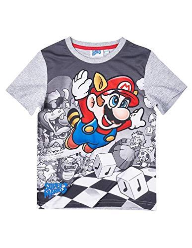 Mario Bros - Camiseta de manga corta - Manga corta - para niño gris 6 años