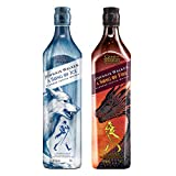 Johnnie Walker A Song of Fire - Blended Scotch Whisky, Haus Targaryen Game of Thrones Limited Edition + A Song of Ice - Blended Scotch Whisky, Haus Stark Game of Thrones Limited Edition