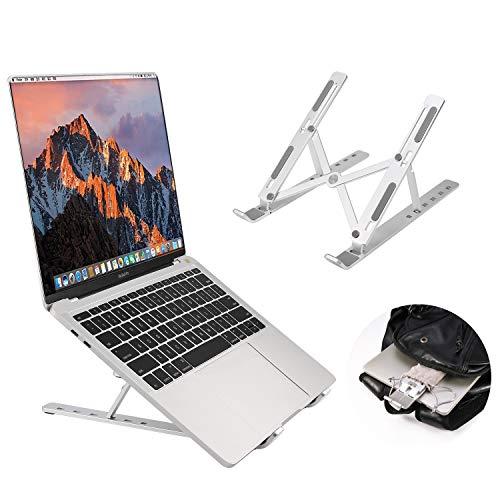 Laptop-Halter, faltbar, verstellbare Höhe und Breite verstellbar, tragbar, universeller Tisch-Ständer, kompatibel mit Notebook Aluminium 6 Geschwindigkeiten, höhenverstellbar - Geschwindigkeit, Notebook