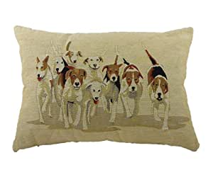 Evans Lichfield Hunting Hounds Traditional Tapestry (Filled) Cushion, 18 x 13 inch