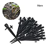 Anself 50pcs 360 Degree Adjustable Drippers Water Flow Irrigation on Stake Emitter Drip System