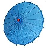 AAF Nommel ® Deko- Kinder- Sonnenschirm aus Stoff und Holz blau, 033