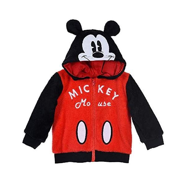 Sudadera con cremallera y capucha de Mickey Mouse de Disney, Neonato, para niño, SunCity Tallas 6/24 meses - HS0123 1
