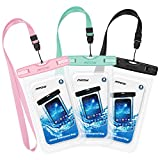Best Galaxy S6 Waterproof Cases - Mpow Waterproof Case 3 Packs, IPX8 Underwater Dry Review
