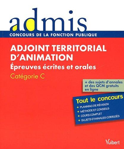 Concours Adjoint territorial d'animation - Epreuves écrites et orales - Catégorie C