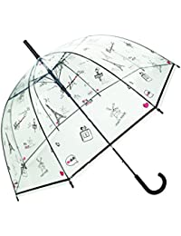 SMATI Parapluie femme dome transparent - Ouverture automatique