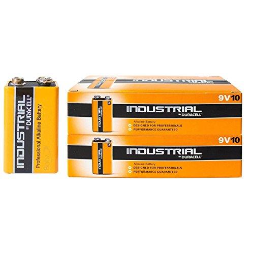 Duracell 20x Industrial 9V MN1604batterie alcaline PP3MN1604, sostituisce Procel