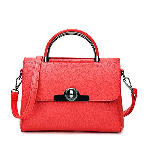 Modo Delle Signore Della Borsa Di Alta Shoulder Bag Messenger Bag Sacchetto Della Borsa Casuale,Gray Red