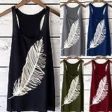 Gladdon T-Shirt Ample à Manches Courtes pour Femmes Casual Casual à col Rond et à Manches longuesfluide Bustier Tunique t Casual de Sweatshirt fantaisiez