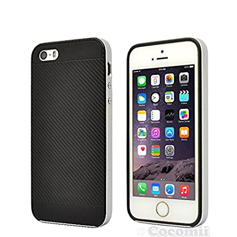 iPhone SE / 5S / 5 Case, Cocomii Demon Armor NEW [Heavy Duty] Premium Carbon Fiber Slim Fit Shockproof Hard Bumper Shell [Military Defender] Full Body Dual Layer Rugged Cover Apple