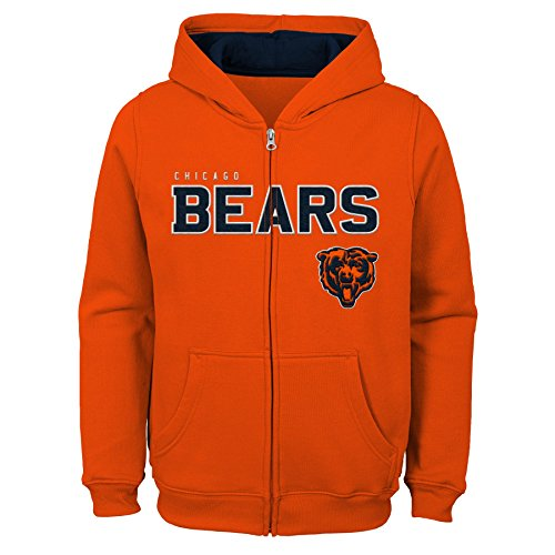 Outerstuff NFL Chicago Bears Jungen Kids & Youth angegebenen Full Zip Fleece Hoodie, Jungen, 9K1B72hg9 BRS B80-BXL20, Orange, Youth Boys X-Large(18) - Youth Full Zip Hoody