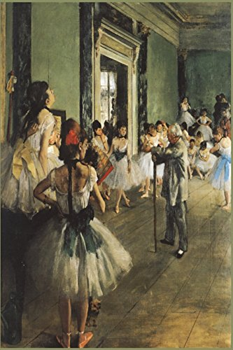 Degas: The Dance Class: Ballerinas at Dancing Class Impressionism Art College Ruled Blank Lined Writing Journal por Envision Journals