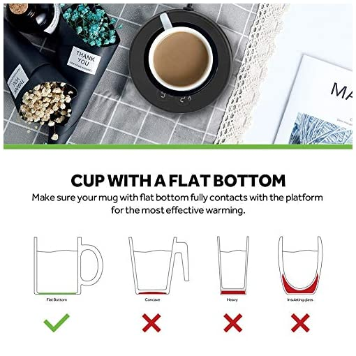 Coffee Warmer,Coffee Mug Warmer,Cup Warmer,Beverage Warmer,Electric Beverage Warmer,Electric Coffee Warmer Plate for Heating Tea, Water, Cocoa, Milk-Cup Heater Plate with Two Temperature Settings