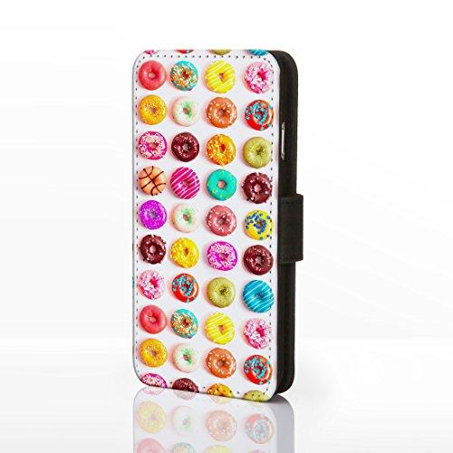 Sweet Shop Collection simili cuir flip Cases pour iPhone modèles. Vintage classique Bonbons, barres de chocolat, DE Biscuits et crème glacée, Cuir synthétique, Design 7: Chocolate Bar, iPhone 5C Design 12: Doughnuts