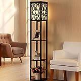 YAN Stehlampe Stehlampe Moderne Wohnzimmer Schlafzimmer Schreibtisch Boden Holzboden Stehlampe (L26Cm W26Cm H160Cm),BBB