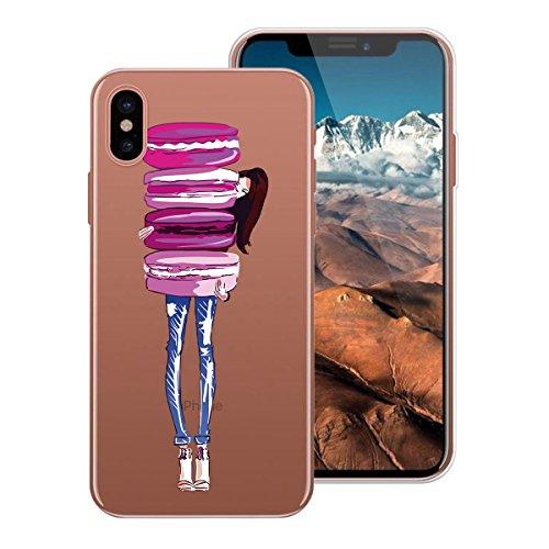 WE LOVE CASE Coque iPhone X, Ultra Fine Souple Gel Coque iPhone X Silicone Motif Coque Girly Resistante, Coque de Protection Bumper Officielle Coque Apple iPhone X Ananas Fille Macaron